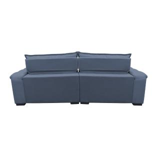 Sofá Retrátil e Reclinável 3,12m com Molas Ensacadas Cama inBox Aconchego Tecido Suede Azul