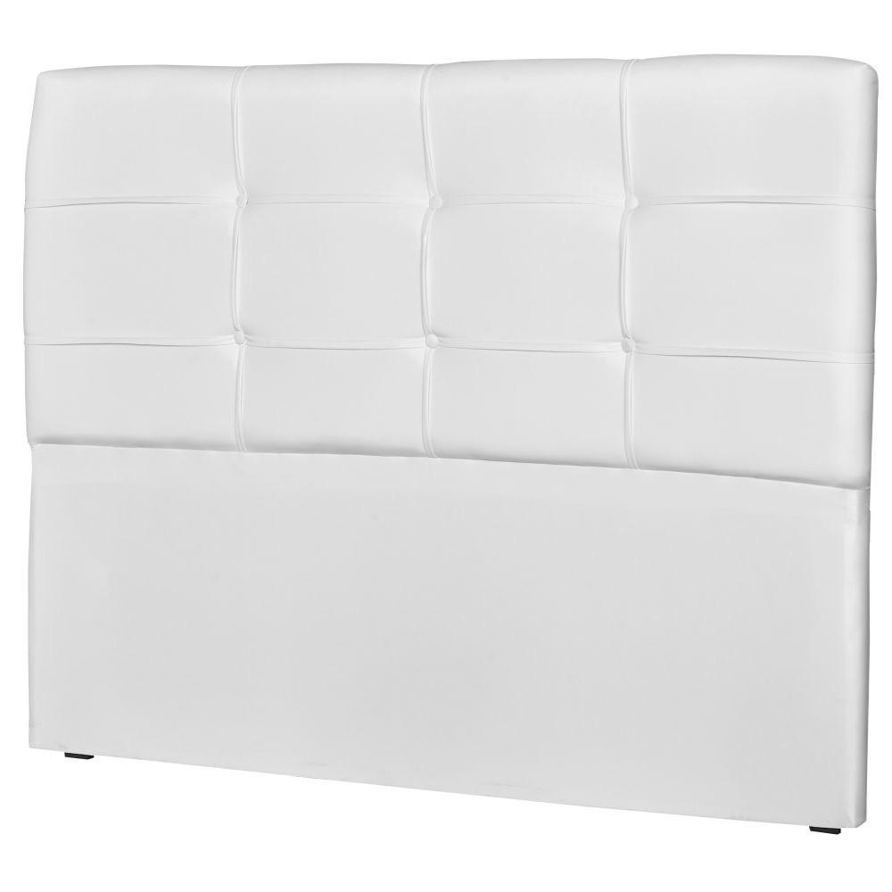Cabeceira Casal Cama Box 160cm London Corino Branco - JS Móveis