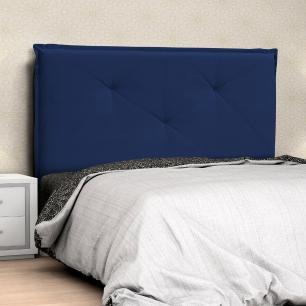 Cabeceira Casal Queen Vic 160cm Suede Azul Marinho - D'Monegatto