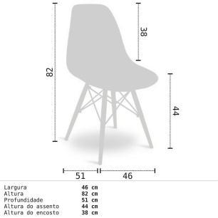 Mesa Escrivaninha Fit Industrial 120cm Castanho e Cadeira Charles Design FT1 Branca - Mpozenato