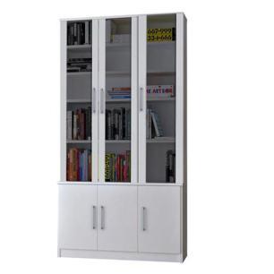 Estante Livreiro Multiuso 6 Portas Vidro Fumê Legend F04 Branco - Mpozenato