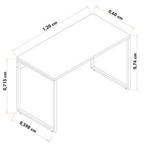 Escrivaninha Mesa de Escritório Studio Industrial 120 M18 Branco - Mpozenato