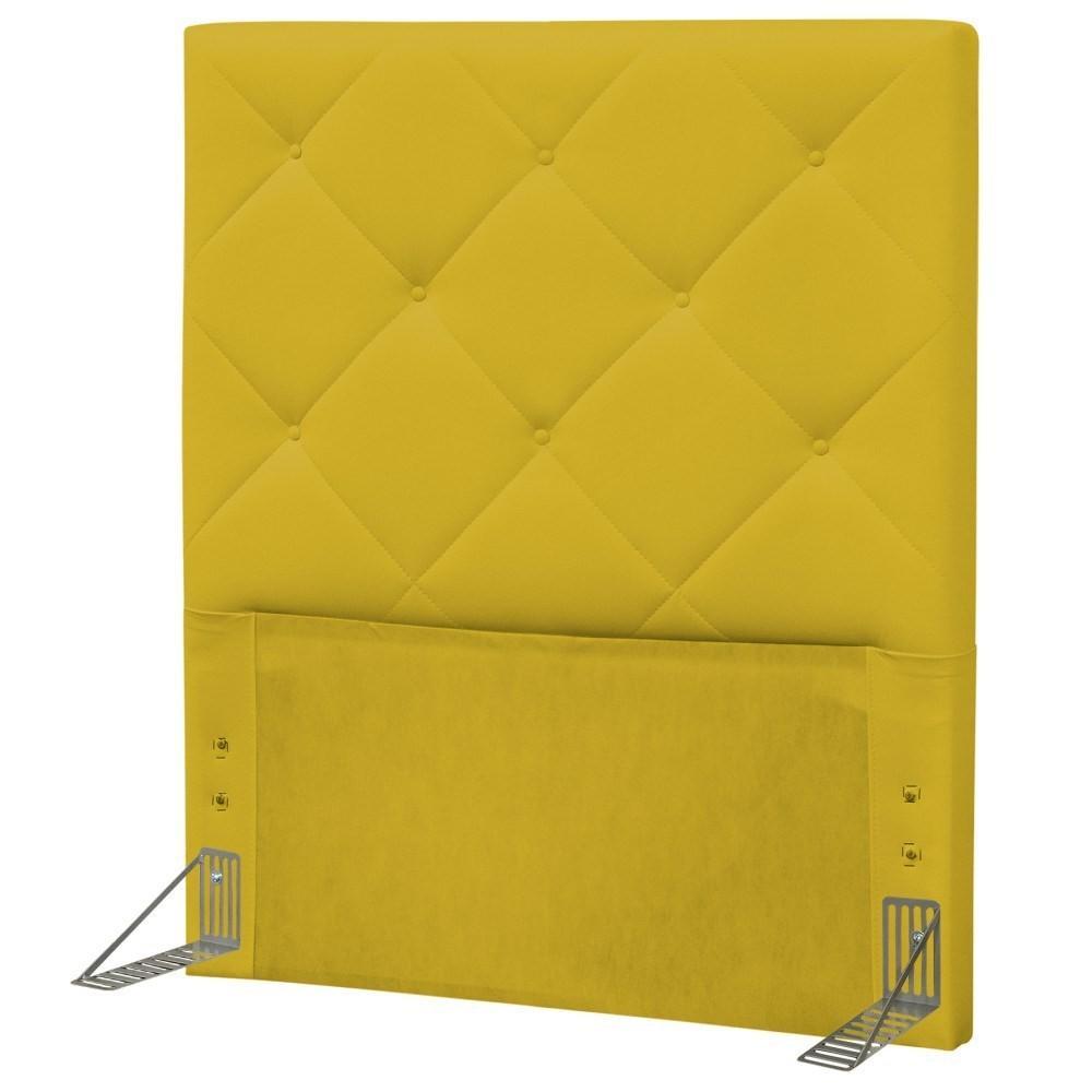 Cabeceira Solteiro 90cm Oásis Corano Amarelo - D'Monegatto