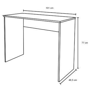 Kit 2 Mesas para Computador Notebook Escrivaninha 101cm Slim A01 Branco - Mpozenato