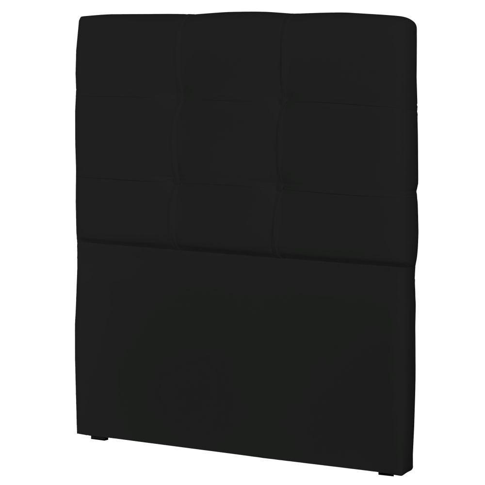 Cabeceira Solteiro Cama Box 90cm London Corino Preto - JS Móveis