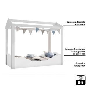 Mini Cama Montessoriana Clouds P13 Branco - Mpozenato