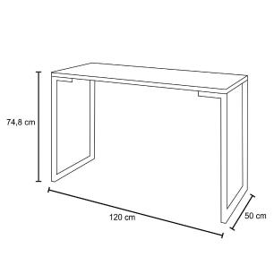 Mesa Escrivaninha Fit Industrial 120cm Castanho e Cadeira Charles Design FT1 Preta - Mpozenato