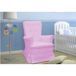 Poltrona de Amamentação com Balanço Valentina Rosa - Phoenix Baby