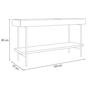 Aparador Bandeja Espelhada 1 Prateleira 1 Porta Estilo Industrial Mezzan H01 Off White - Mpozenato