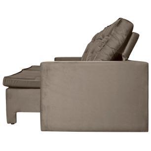 Sofá 4 Lugares Argos com Pillow Retrátil e Reclinável 2,30m Pena Camurça