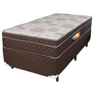 Cama Box Solteiro + Colchão De Molas Ensacadas Com Pillow In Cavan 88x188x66 Marrom