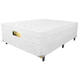 Cama Box Queen + Colchão de Molas Ensacadas e Pillow Revolution (158x198x62) - Branco