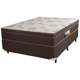 Cama Box Casal + Colchão de Molas Ensacadas com Pillow In Cavan (138x188x66) Marrom