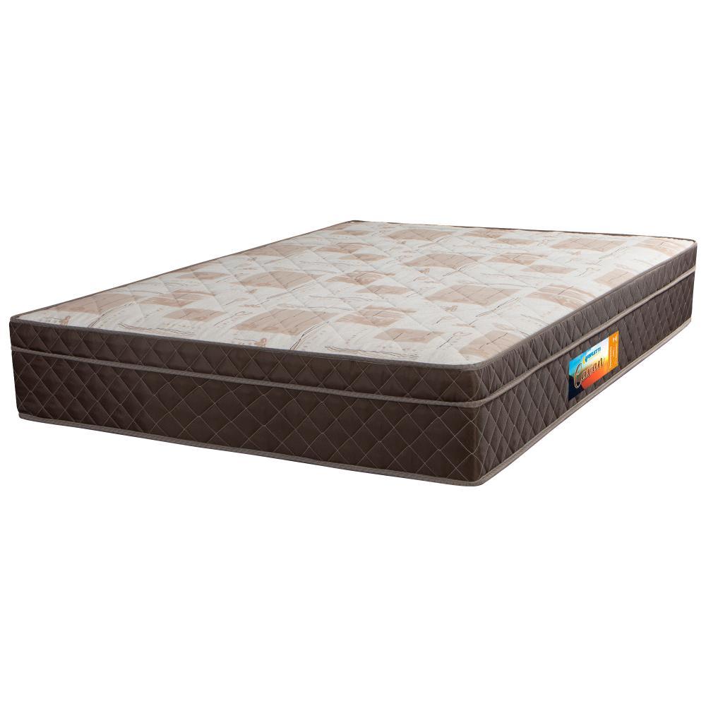 Colchão Casal De Molas Ensacadas Pillow In Cavan 138x188x26 Marrom