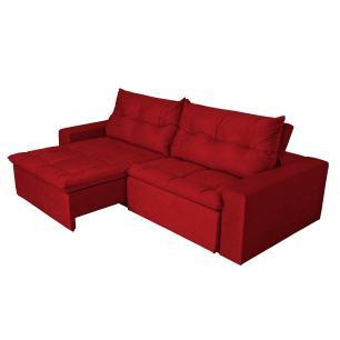 Sofá 4 Lugares Miró Com Pillow Retrátil E Reclinável Suede Amassado -