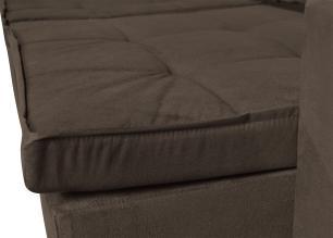 Sofá 4 Lugares Argos 2,50m com Pillow Retrátil e Reclinável Veludo Marrom