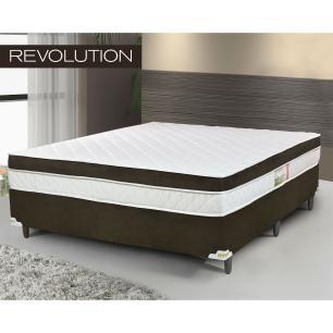 Cama Box Queen Colchão De Molas Ensacadas E Pillow Revolution - Chocol