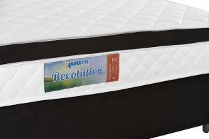 Cama Box Queen + Colchão de Molas Ensacadas e Pillow Revolution (158x198x62) - Marrom