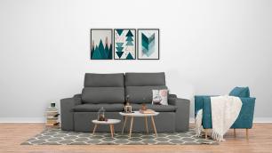 Sofá 3 Lugares Connect Plus 2,10m Retrátil e Reclinável Veludo Cinza
