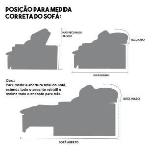 Sofá 5 Lugares Artemis com Molas Ensacadas 2,90m Retrátil e Reclinável Veludo Premium Bordo