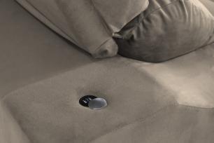 Sofá 4 Lugares Connect 2,50m Retrátil e Reclinável com Pillow Molas e USB Veludo Camurça