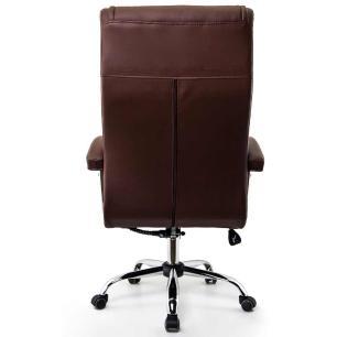 Cadeira Escritório Presidente Monique Marrom Mola Ensacada Conforsit 4648