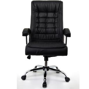 Cadeira Escritório Presidente Monique Preta Mola Ensacada Conforsit 4535