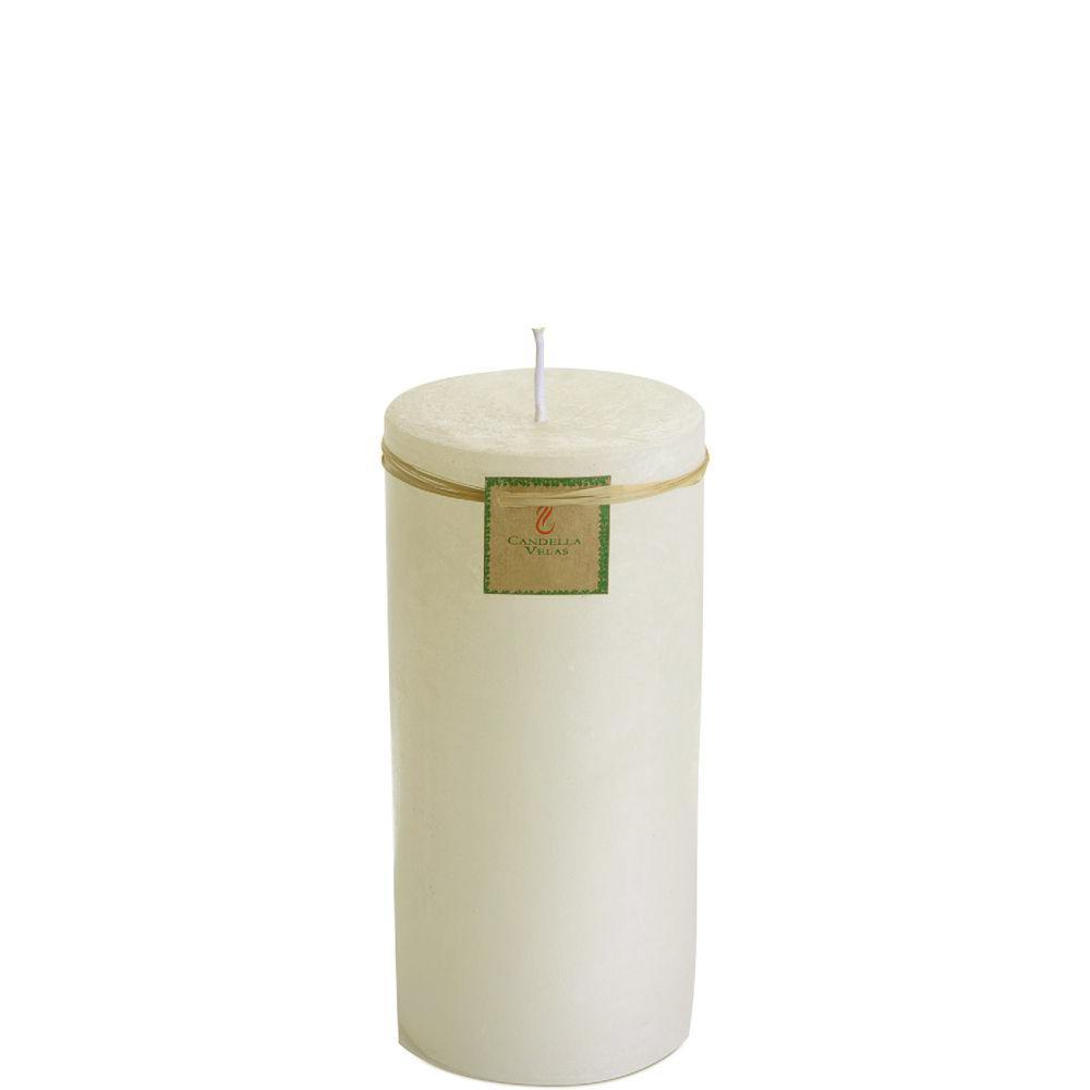 Vela Cilíndrica 9,5x20 Cm Marfim