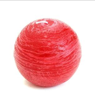 Vela Bola Vermelha 15 Cm