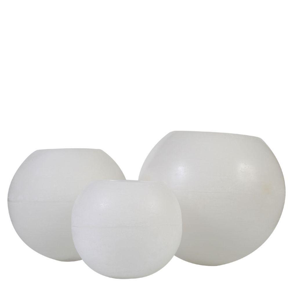 Conjunto de Vela Luminária Bola Branca