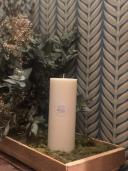 Vela Cilíndrica Cera Natural 7,5x20cm