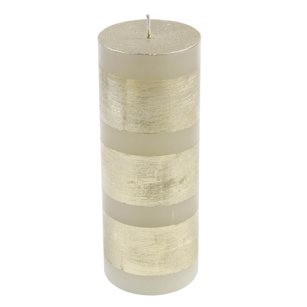 Vela Cilindrica 7,5x20 Faixa Dourada