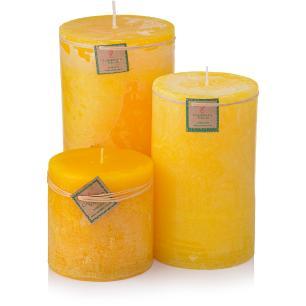 Trio Velas Cilíndricas Grandes Citronela