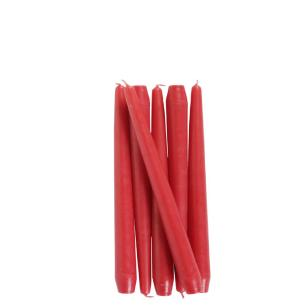 Vela Castiçal Cônica 20 Cm Vermelha