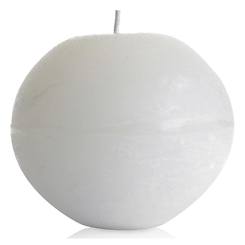 Vela Bola 20 Cm Branca