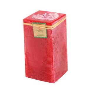 Vela Quadrada Vermelha 8x15 Cm
