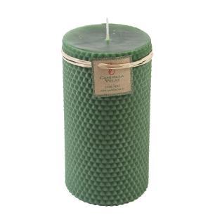 Vela Cilindrica Cera de Abelha 7,5x15 Verde