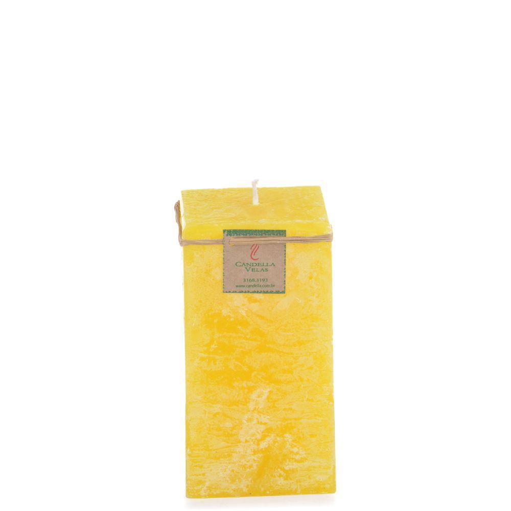 Vela Quadrada 8x15 Cm Citronela