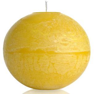 Vela Bola 20 Cm Marfim