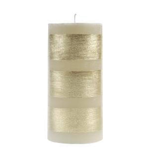 Vela Cilindrica 9,5x20 Faixa Dourada