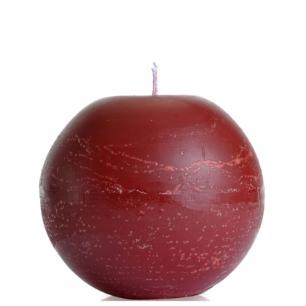 Vela Bola 15 Cm Vermelha