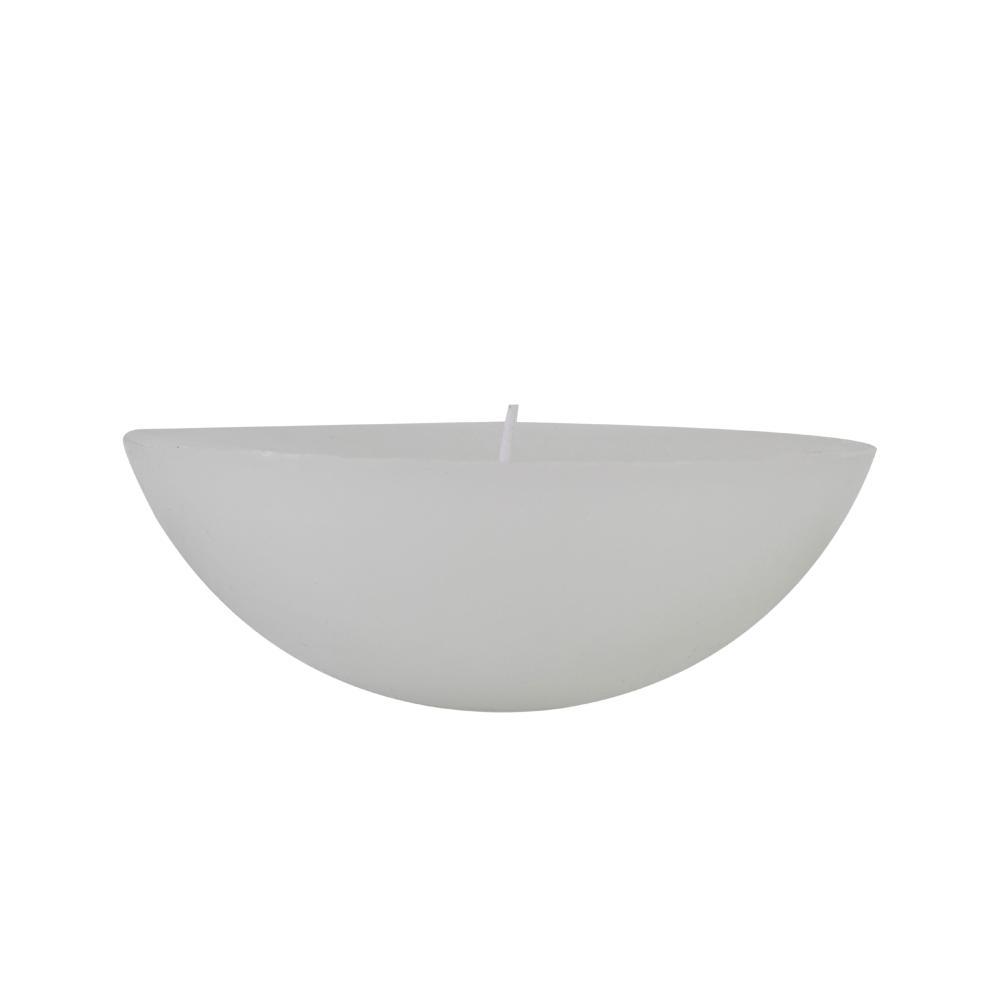 Vela 1/2 Bola Flutuante 17,5x10 Cm Branca