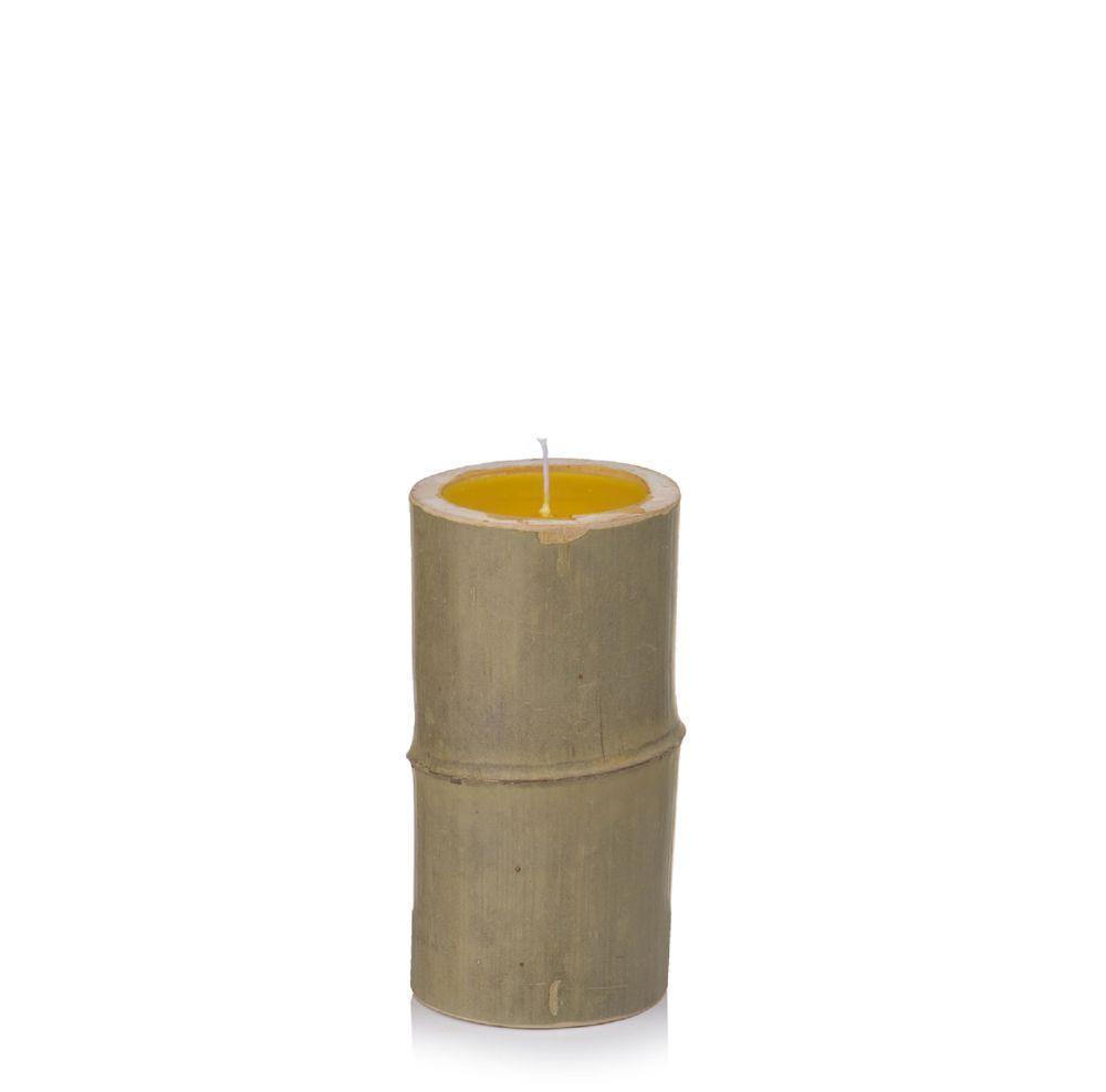 Vela de Citronela em Suporte de Bambú M