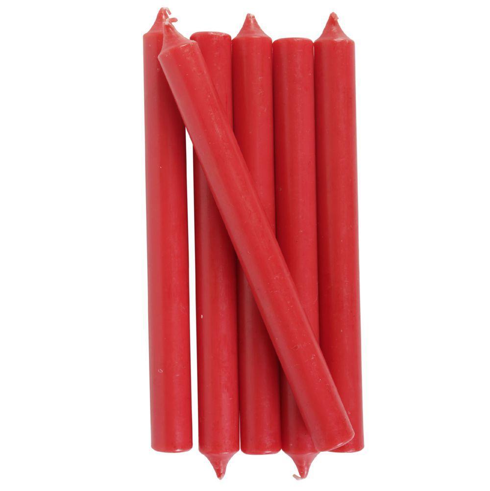 Vela Castiçal Reta 2,5x25 Cm Vermelho