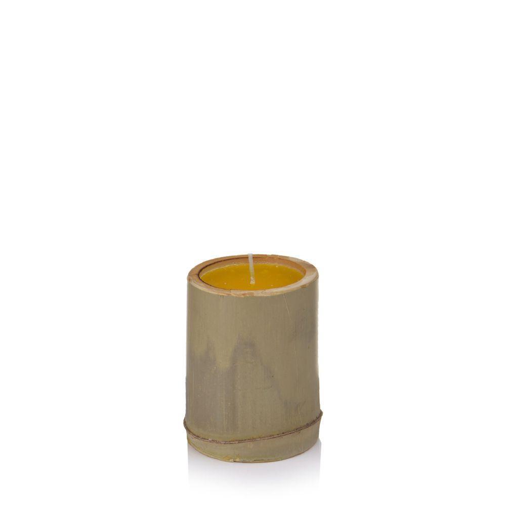 Vela de Citronela em Suporte de Bambu P