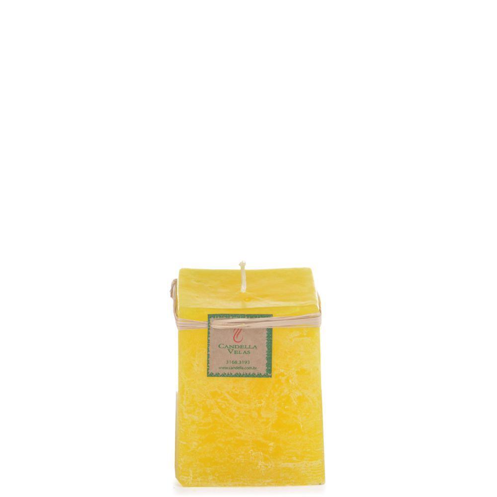 Vela Quadrada 8x10 Cm Citronela
