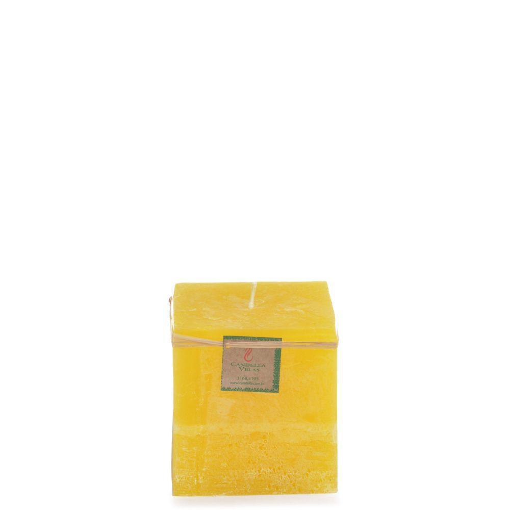 Vela Quadrada 10x10 Cm Citronela