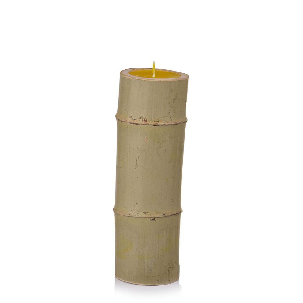 Vela de Citronela em Suporte de Bambú G