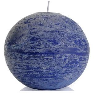 Vela Bola 20 Cm Azul
