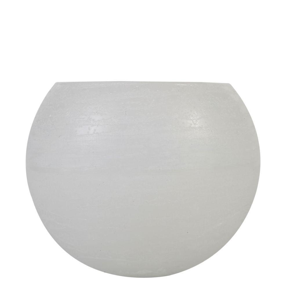 Vela Luminária Bola 15 Cm Branca